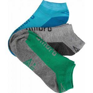 Umbro LOW LINER JUNIORS 3P šedá 24-27 - Dětské ponožky