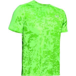 Under Armour SPEED STRIDE PRINTED SS zelená XL - Pánské běžecké tričko