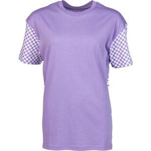 Vans WM EMEA CENTRL SS fialová L - Dámské tričko